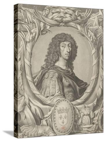 """Louis II de Bourbon, Prince de Condé dit """"Le grand Condé"""" (1621-1686)-Michel Lasne-Stretched Canvas Print"""