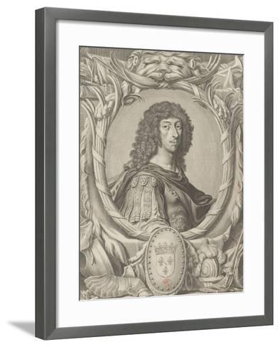 """Louis II de Bourbon, Prince de Condé dit """"Le grand Condé"""" (1621-1686)-Michel Lasne-Framed Art Print"""