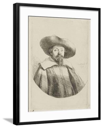 Manasseh ben Israël-Rembrandt van Rijn-Framed Art Print
