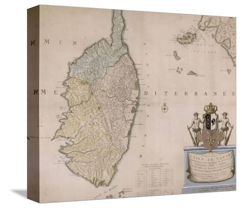 Carte de la Corse.--Stretched Canvas Print