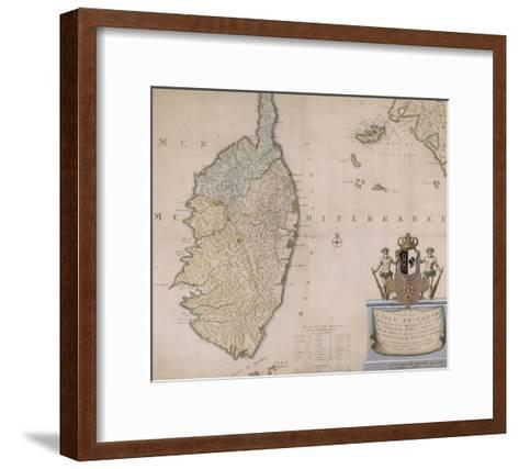 Carte de la Corse.--Framed Art Print