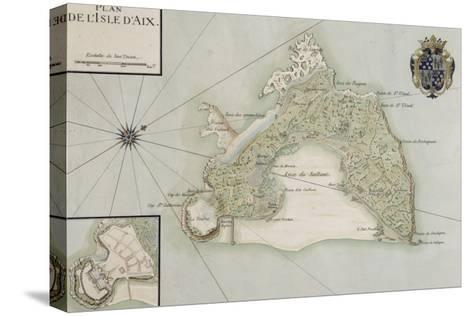 Plan de l'Ile d'Aix--Stretched Canvas Print