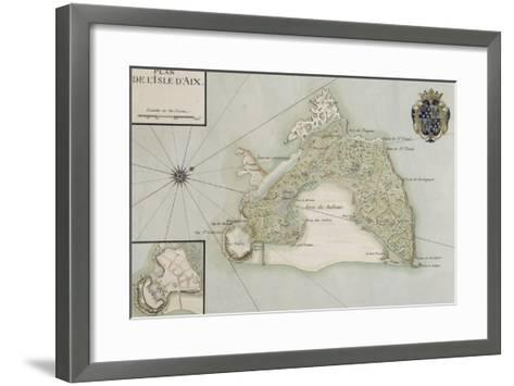 Plan de l'Ile d'Aix--Framed Art Print