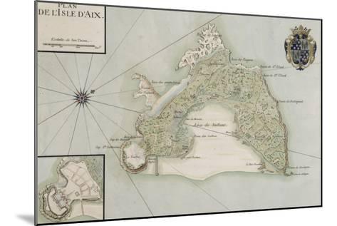 Plan de l'Ile d'Aix--Mounted Giclee Print