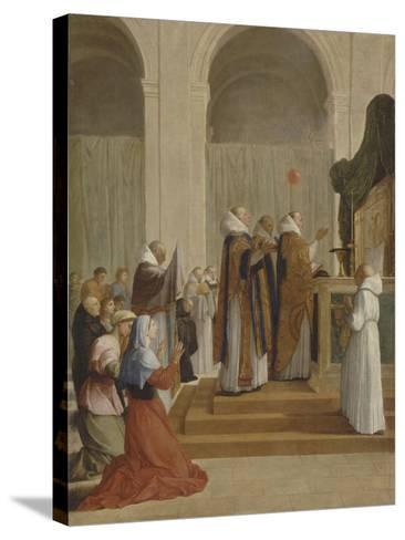 Messe de saint Martin, évêque de Tours-Eustache Le Sueur-Stretched Canvas Print