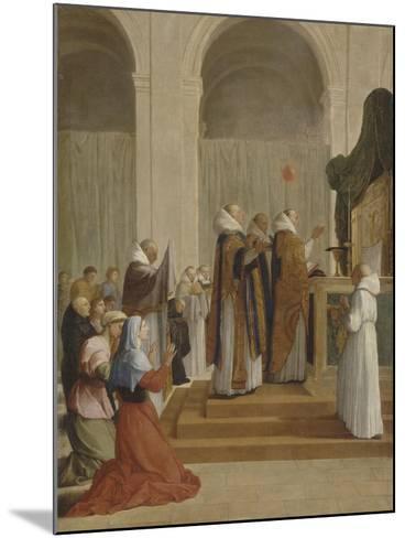 Messe de saint Martin, évêque de Tours-Eustache Le Sueur-Mounted Giclee Print
