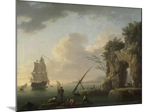 Marine par temps calme. Effet de soleil couchant-Claude Joseph Vernet-Mounted Giclee Print