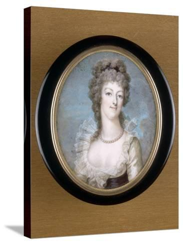 Marie-Antoinette, reine de France représentée en 1792--Stretched Canvas Print
