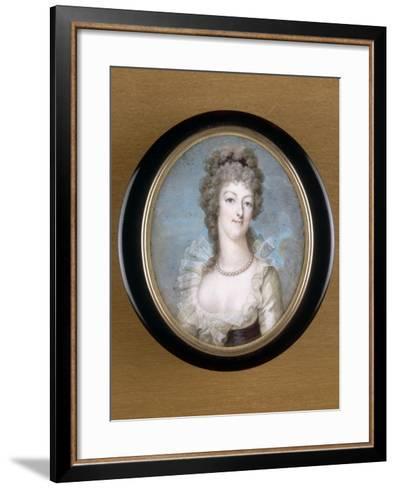 Marie-Antoinette, reine de France représentée en 1792--Framed Art Print