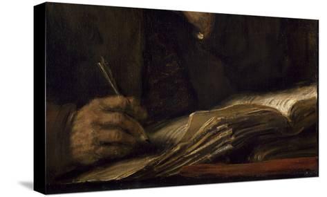Saint Mathieu et l'Ange-Rembrandt van Rijn-Stretched Canvas Print