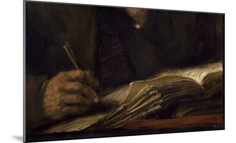 Saint Mathieu et l'Ange-Rembrandt van Rijn-Mounted Giclee Print
