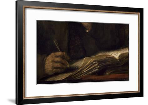 Saint Mathieu et l'Ange-Rembrandt van Rijn-Framed Art Print