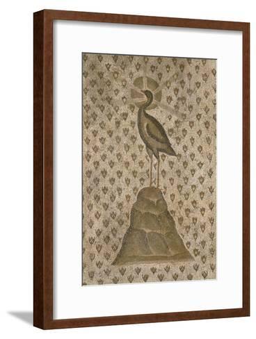 Mosaïque de sol : Le Phénix sur un semis de boutons de roses--Framed Art Print