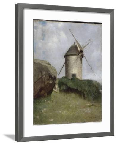 Moulin en Bretagne-Odilon Redon-Framed Art Print