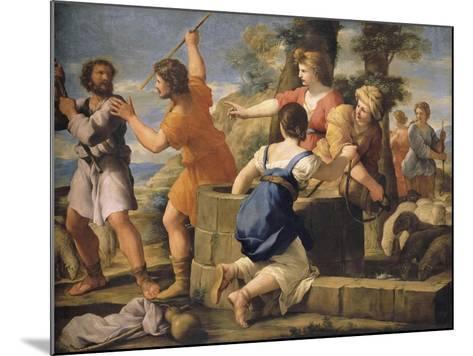 Moïse et les filles de Jethro-Giovanni Francesco Romanelli-Mounted Giclee Print