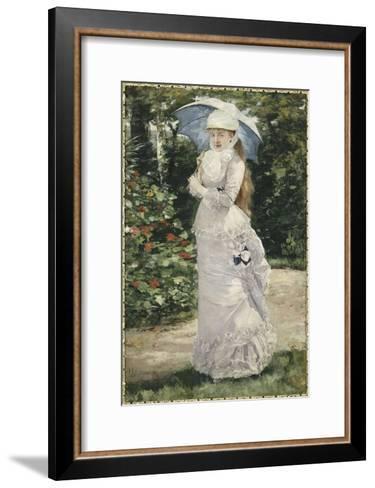 Madame Valtesse de la Bigne (1861-1910)-Henri Gervex-Framed Art Print