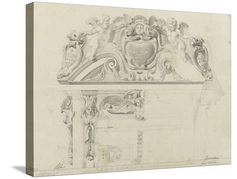 Monographie du palais de Fontainebleau : Grand vestibule-Rodolphe Pfnor-Stretched Canvas Print