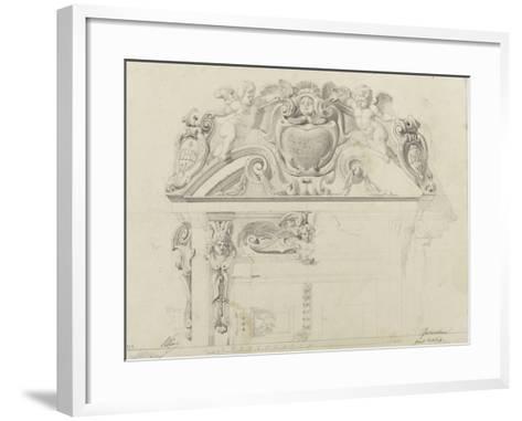 Monographie du palais de Fontainebleau : Grand vestibule-Rodolphe Pfnor-Framed Art Print