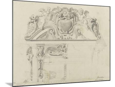 Monographie du palais de Fontainebleau : Grand vestibule-Rodolphe Pfnor-Mounted Giclee Print