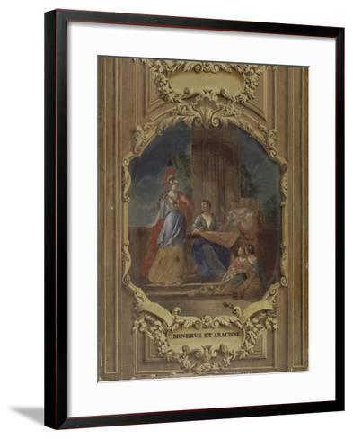 Minerve considérant l'ouvrage d'Arachné-Alexandre Ubelesqui-Framed Art Print