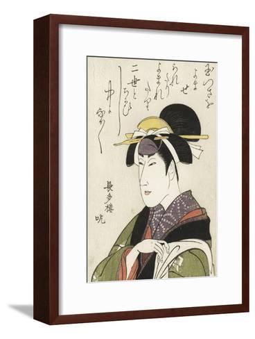 Miroirs des acteurs de kabuki (yakusha awase kagami)-Utagawa Toyokuni-Framed Art Print