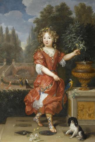 Mademoiselle de Blois-Pierre Mignard-Stretched Canvas Print