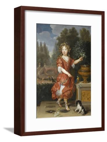 Mademoiselle de Blois-Pierre Mignard-Framed Art Print