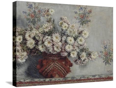 Chrysanthèmes-Claude Monet-Stretched Canvas Print