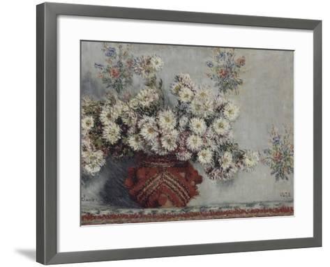 Chrysanthèmes-Claude Monet-Framed Art Print