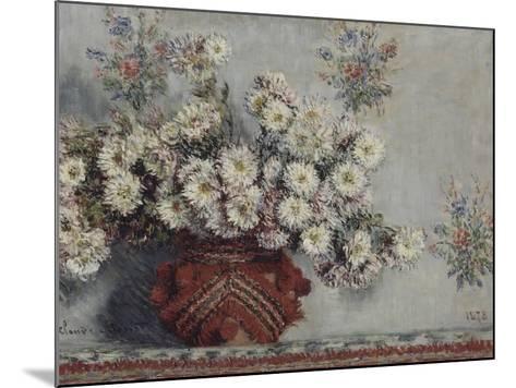 Chrysanthèmes-Claude Monet-Mounted Giclee Print