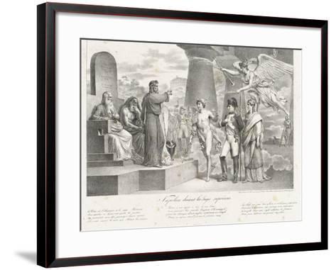 Napoléon devant les juges suprêmes-Nicolas Toussaint Charlet-Framed Art Print