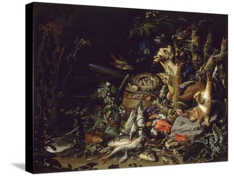 Le Nid de pinsons-Abraham Mignon-Stretched Canvas Print