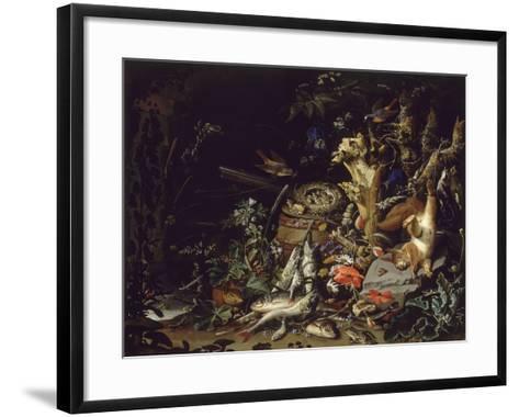 Le Nid de pinsons-Abraham Mignon-Framed Art Print