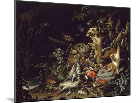 Le Nid de pinsons-Abraham Mignon-Mounted Giclee Print