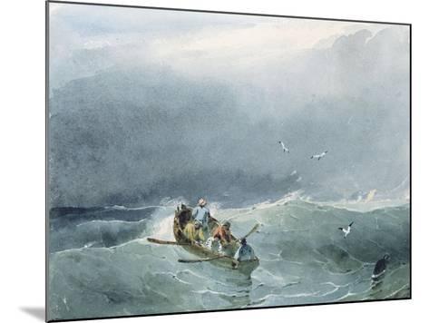 Marine, barque avec cinq marins sur une mer un peu agitée-Richard Parkes Bonington-Mounted Giclee Print