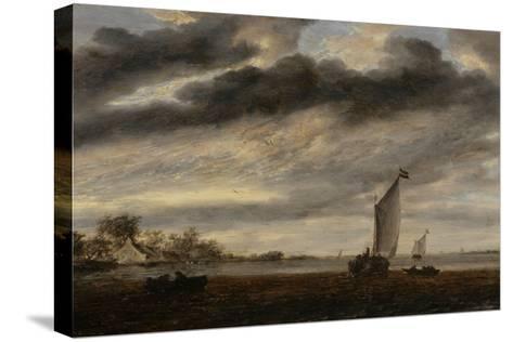 La Marine d'Or, soleil couchant-Salomon Van Ruysdael-Stretched Canvas Print