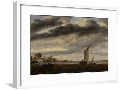 La Marine d'Or, soleil couchant-Salomon Van Ruysdael-Framed Art Print
