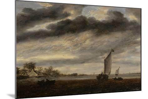 La Marine d'Or, soleil couchant-Salomon Van Ruysdael-Mounted Giclee Print