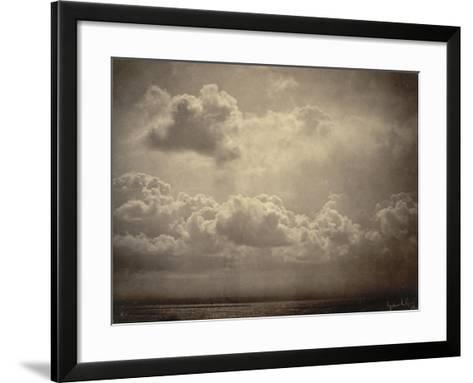 Marine, étude de nuages-Gustave Le Gray-Framed Art Print