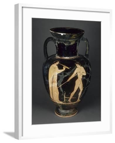 Amphore à col à figures rouges--Framed Art Print
