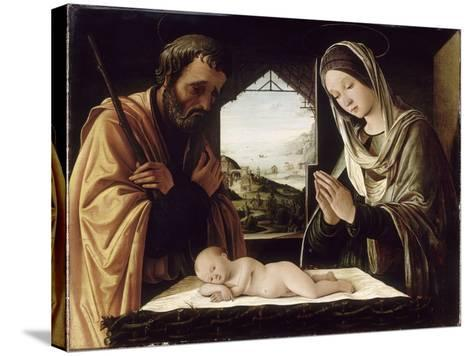 La Nativité-Lorenzo Costa-Stretched Canvas Print