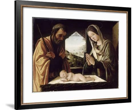 La Nativité-Lorenzo Costa-Framed Art Print