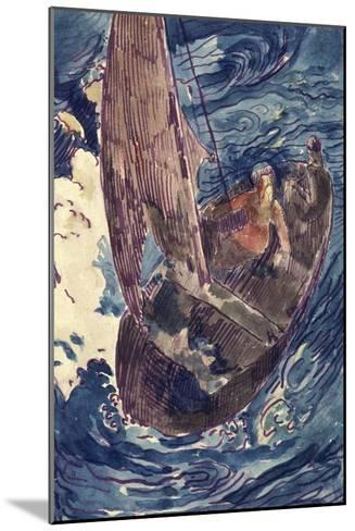 Album Noa-Noa : Homme dans une barque-Paul Gauguin-Mounted Giclee Print