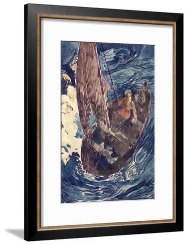 Album Noa-Noa : Homme dans une barque-Paul Gauguin-Framed Art Print