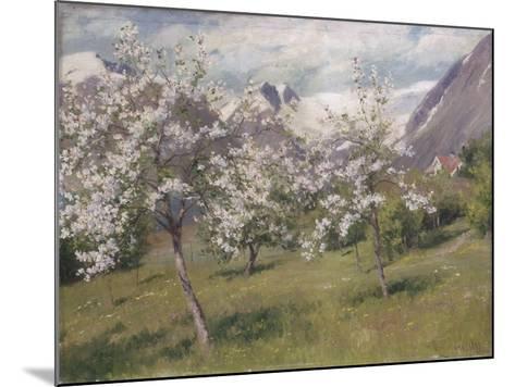 Norvège, verger en fleur (Harland) .1898-Johannes Martin Grimelund-Mounted Giclee Print