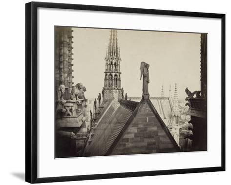 Notre-Dame de Paris, les combles pris de la Galerie des Tours-Charles Marville-Framed Art Print