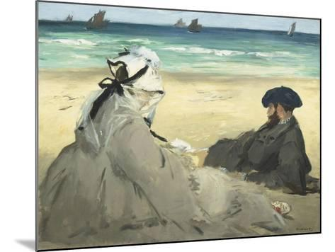 Sur la plage-Edouard Manet-Mounted Giclee Print