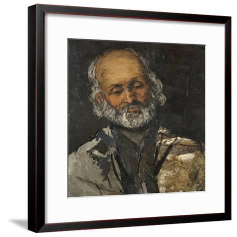 Tête de vieillard-Paul C?zanne-Framed Art Print