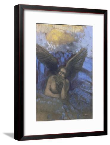 Vieil ange-Odilon Redon-Framed Art Print
