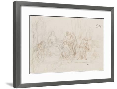 Moïse sauvé des eaux-Charles Le Brun-Framed Art Print